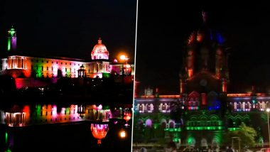 Independence Day 2020: Rashtrapati Bhavan, CSMT, Parliament Lit Up in Tricolour, See Pics