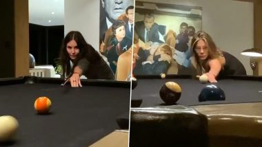 Jennifer Aniston Enjoys a Game of Pool With Her Former Friends Co-Star Courteney Cox (Watch Video)