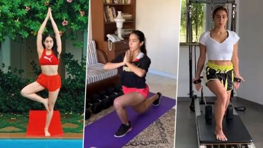 Sara Ali Khan Birthday Special: Workout Videos of The Bollywood Actress That Will Give You Major Fitness Goals