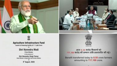 PM Narendra Modi Launches Financing Facility Worth Rs 1 Lakh Crore, Releases 6th Instalment of PM-KISAN Fund For Farmers