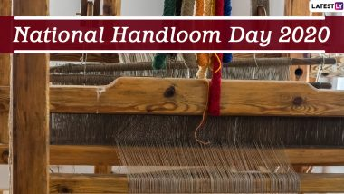 National Handloom Day 2020 Wishes and HD Images: WhatsApp Stickers, Facebook Messages, Quotes and GIF Greetings to Celebrate the Day