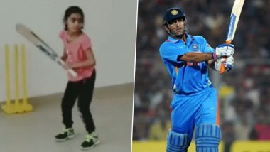 MS Dhoni's 7-Year-old Fan Pari Sharma Lauded by Netizens, Fans Say Call Her 'Baby Girl Version of Dhoni'