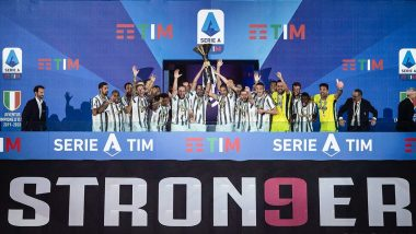 Cristiano Ronaldo and Juventus Lift Serie A 2019–20 Trophy, Here's How Bianconeri Players Celebrated Ninth Consecutive Title (See Photos and Videos)