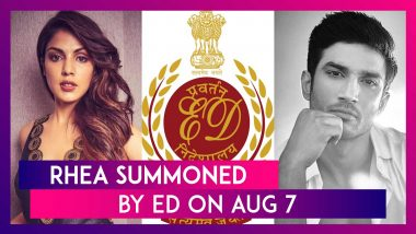 Rhea Chakraborty Summoned By Enforcement Directorate In Sushant Singh Rajput Money Laundering Case