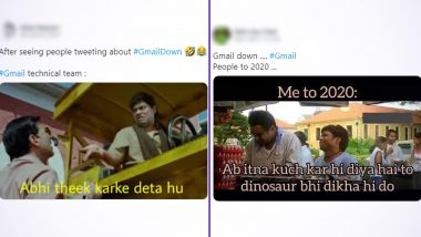 Gmail is Down, So Of Course Netizens Report Outage on Twitter With Funny Memes and Jokes! Check Hilarious Reactions As Users Are Unable to Send Emails, Attach Files and More