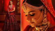 Prachi Tehlan and Rohit Saroha Tie The Knot! Diya Aur Baati Hum Actress Looks Resplendent In An Embroidered Red Lehenga (View Pics)