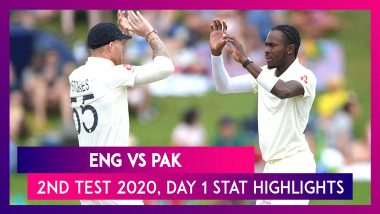 ENG vs PAK Stat Highlights, 2nd Test 2020, Day 1: England Bowlers Put Up Good Show
