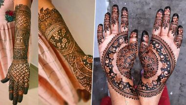Raksha Bandhan 2020 Latest Mehendi Designs: Easy Arabic and Rajasthani Mehndi Pattern Images and Tutorial Videos to Try at Home on Rakhi