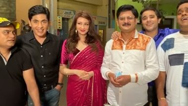 Saumya Tandon Gets a Beautiful Farewell From Bhabiji Ghar Par Hain Cast (Watch Video)