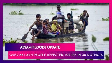 Assam Floods: Over 56 Lakh People Affected In 30 Districts, Death Toll Rises To 109