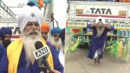 Jaw-Dropping! 75-Year-Old Nihang Sikh Pulls Truck With Rope Tied to Shoulders in Punjab, Urges Youth to Quit Drugs (See Pictures)