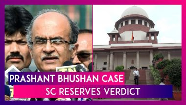 Prashant Bhushan Contempt Case: Supreme Court Reserves Verdict