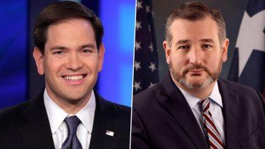 China Sanctions Senators Marco Rubio, Ted Cruz And 9 Others to Counter US Action on Hong Kong