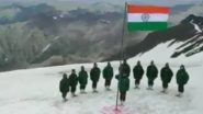 Independence Day 2020 Celebrations: Indian Army Soldiers Posted in J&K's Gurez Sector Hoist National Flag (Watch Video)