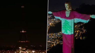 Beirut Explosion: From Rio's Christ the Redeemer Statute to Eiffel Tower's Lights Turned Off, Here's How Famous Tourist Spots From Around the World Showed Their Solidarity With Lebanon Victims (See Pics and Videos)