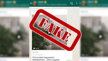 WhatsApp Forward Claiming That Billboard Fell on a Motorcyclist in  Hyderabad's Mehdipatnam Area is Fake, Know Truth Behind the Viral Clip