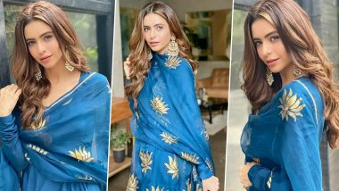Aamna Sharif Is Giving the Royal Blue a Royal Ethnic Elegance!