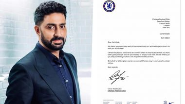 Abhishek Bachchan Overwhelmed As Chelsea FC Sends 'Speedy Recovery' Letter to Him (View Post)