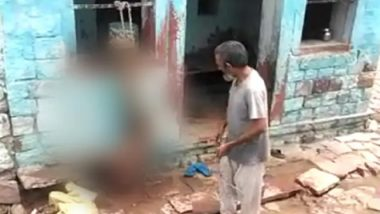 Agra Shocker: Father Hangs Son Upside Down, Thrashes Him With Rope; Arrested After Video Goes Viral