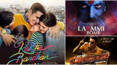 Raksha Bandhan, Laxmmi Bomb, Sooryavanshi, Bell Bottom and More - Here's a Look At Akshay Kumar's Upcoming Releases