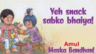 Amul Topical's Take on Raksha Bandhan 2020 With 'Maska Bandhan' Perfectly Defines a Brother-Sister Relationship (View Pic)