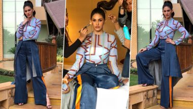 Amyra Dastur Is All About Being Quirky Chic in Prints, Folds and a High Ponytail!