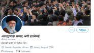 Ayatollah Khamenei, Iran's Supreme Leader, Creates Twitter Account in Hindi, Read His First Tweet