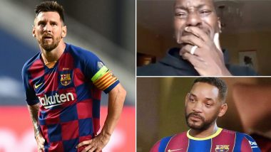 'Lionel Mesi Deserves Better': Barcelona Fans Troll Club for Humiliating Loss to Bayern Munich in UCL 2019–20; Beg Argentine Star to Leave Before Things Get Worse