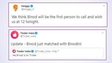 Binod is Love! From Tinder to Swiggy, Everyone is Obsessing Over the Viral Funny Meme Trend, Check Hilarious Tweets