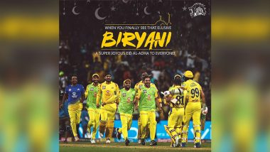 Eid al-Adha 2020: Chennai Super Kings' Greetings are Unmissable for Biryani Lovers
