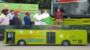 Punjab CM Amarinder Singh Flags Off Corona Mobile Testing Clinic and Ambulance