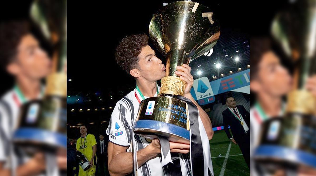 Football News Cristiano Ronaldo Shares Picture With Serie A Trophy Says It S Not A Bad Habit Latestly