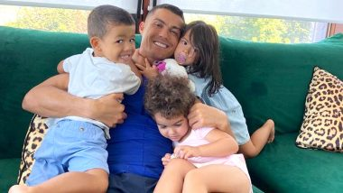 Cristiano Ronaldo Is 'Feeling Loved' With His Children, Juventus Star Shares Lovely Family Picture Ahead of Champions League Return (See Post)