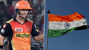 Independence Day 2020: SRH captain David Warner Wishes Indian Fans