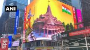 Ram Temple Digital Billboard Features in New York's Times Square, Watch Video
