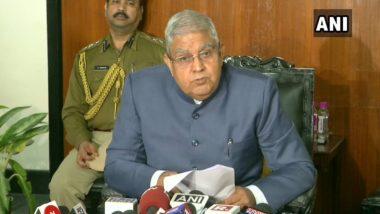 Raj Bhavan Under Surveillance, Claims West Bengal Governor Jagdeep Dhankar