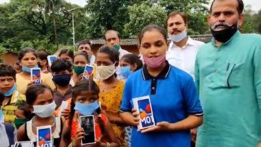 Maharashtra BJP Distributes 25 Smartphones to Tribal Kids in Mumbai for Online Classes