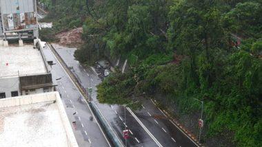 Mumbai Rains: Heavy Showers Lash City, Landslide at Malabar Hill (Watch Video)