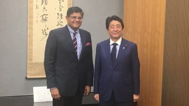 Shinzo Abe Resigns: BJP Spokesperson Baijayant Panda Prays For Good Health of Former Japanese PM, Says 'Fortunate to Have Been Long Associated With Indo-Japan Track-II Dialogues'