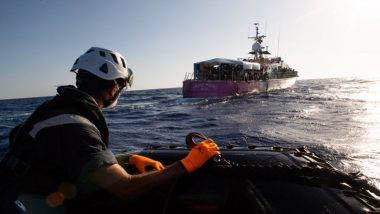 Migrants Onboard Banksy-Funded Louise Michel Transferred to Sea-Watch 4 Ship; Almost 350 People on The Charity Vessel Stranded in Mediterranean Sea