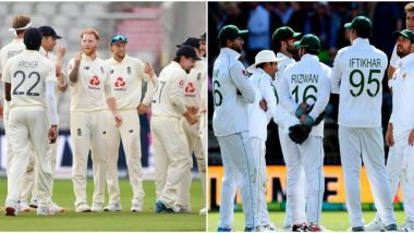 PAK 126/5 in 45.4 Overs | Pakistan vs England Live Score of 2nd Test Day 1: Rains Continue to Pour