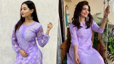 Fashion Faceoff: Rashami Desai or Karishma Tanna, Who Nailed The Luscious Lavender Look Better? (View Pics)