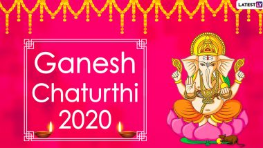 Happy Ganesh Chaturthi 2020 Wishes & HD Images: Facebook Greetings, WhatsApp Stickers, Vinayak Chaturthi Stickers and SMS to Celebrate the Hindu Festival