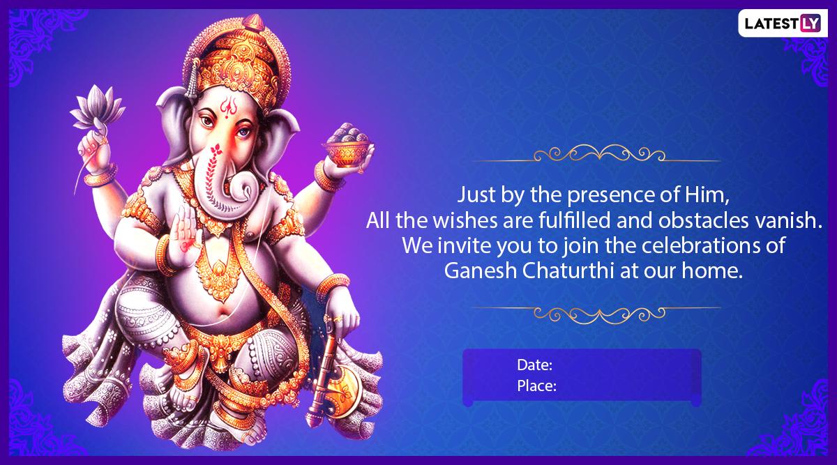 ganesh chaturthi 2020 einvitation cards for virtual