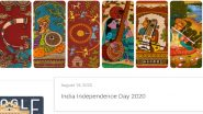 India Independence Day 2020 Google Doodle: Search Engine Giant Wishes Indians on 74th I-Day with a Beautiful Artwork Greeting!
