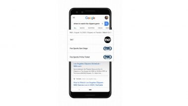 Google's New Feature in Search Bar Now Offers Quick Results for Live Sports & TV Shows
