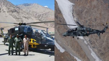 HAL's 2 Light Combat Helicopters Deployed in Ladakh Amid Tensions With China at LAC