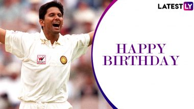 Venkatesh Prasad Birthday Special: 6/33 vs Pakistan and Other Stupendous Performances by Former Indian Pacer