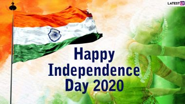 Happy Independence Day 2020 Greetings: WhatsApp Stickers, GIF Image Messages, SMSes, Patriotic Quotes And Thoughts on India's Freedom to Share on 15th August