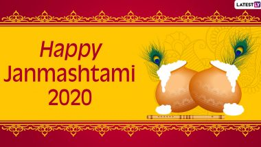 Janmashtami 2020 Wishes And Dahi Handi Messages: WhatsApp Stickers, Facebook Greetings, Instagram Stories, GIF Images and SMS to Celebrate Lord Krishna's Birthday